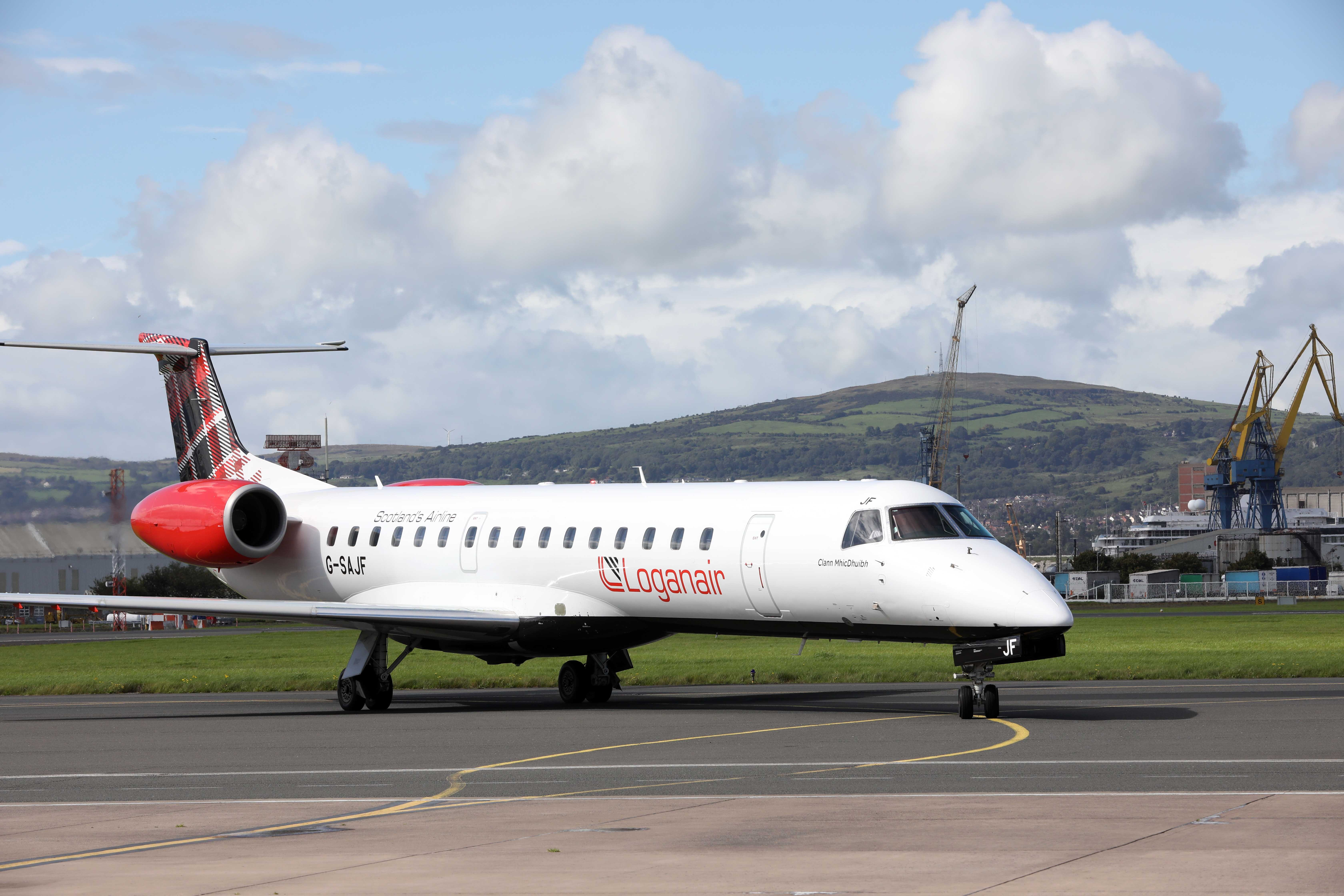 Loganair takes off to Dundee from Belfast City Airport