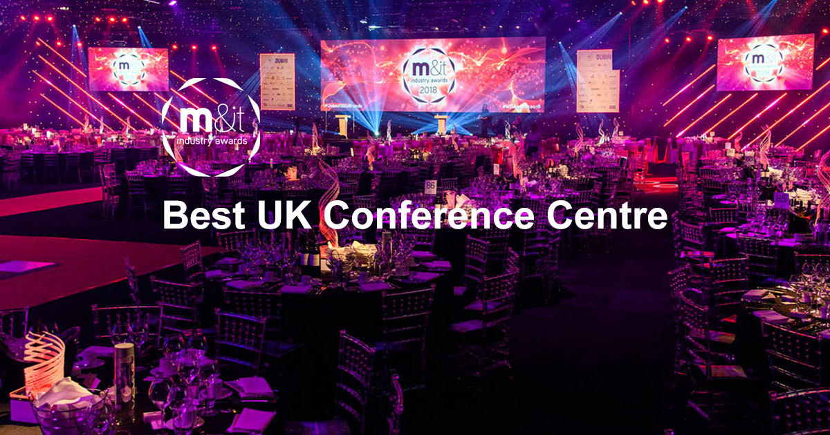 M&IT Awards artwork for Best UK Conference Centre