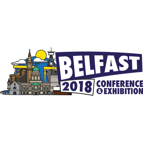Museums Association Conference Belfast 2018 Landscape Logo