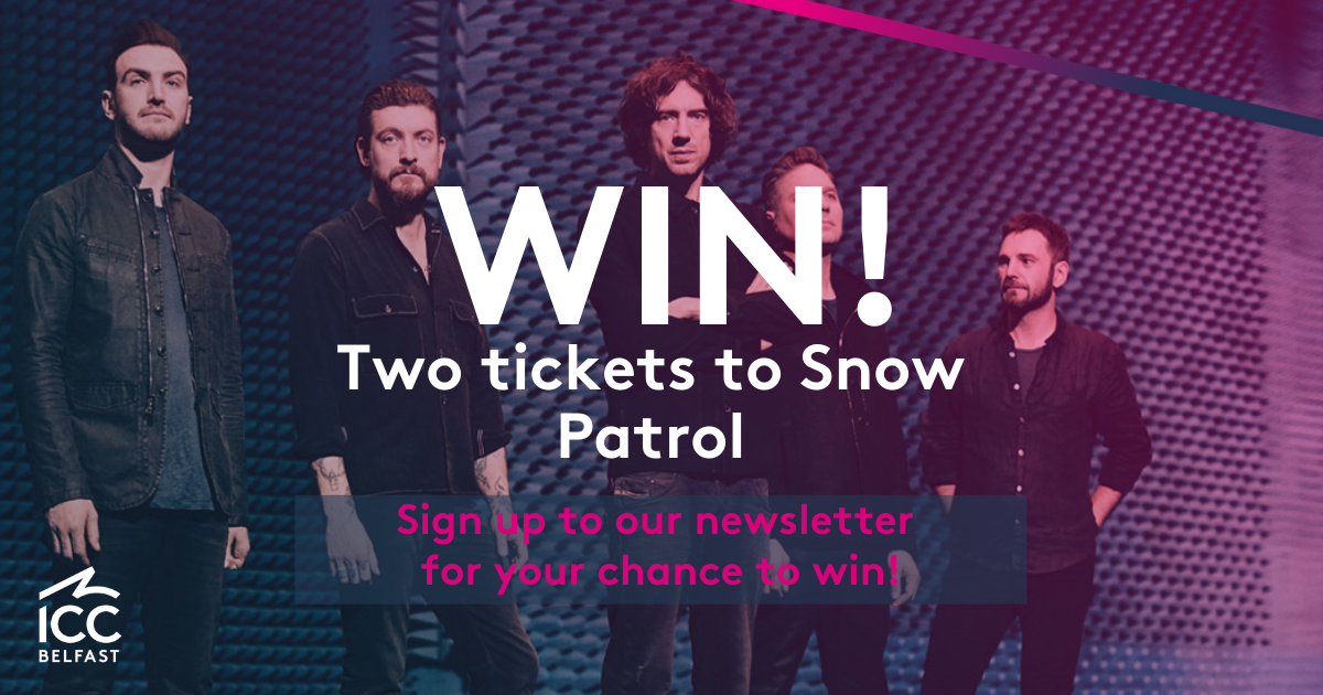 Win two tickets to Snow Patrol at Waterfront Hall