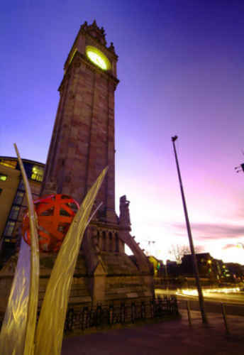 Albert Clock Night ICC Belfast
